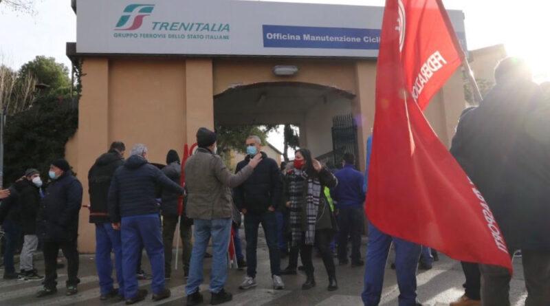 Officine Grandi Riparazioni (OGR), Nadia Rossi al presidio davanti all'impianto di Rimini