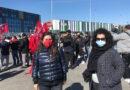 La consigliera regionale Nadia Rossi a Santarcangelo allo sciopero Amazon indetto da FILT-CGIL Rimini